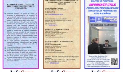 Informații Utile -  Călătoria în străinătate