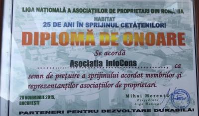 Diplomă de onoare Liga HABITAT