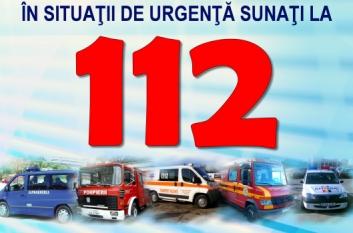 112 - Sunați și salvați VIAȚA, PROPRIETATEA, MEDIUL