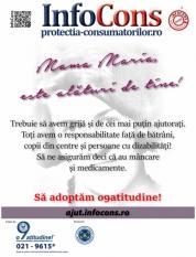 "Campania sociala "" Mama Maria este alături de tine - Nimeni sa nu fie uitat ! Ajuta-ne sa ii ajutam !"""