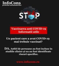 Un pacient care a avut COVID-19 mai trebuie vaccinat?