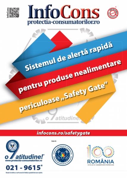 Safety Gate: Sistemul de alertă rapidă produse nealimentare – raport săptămânal 06 - 12.03.2021