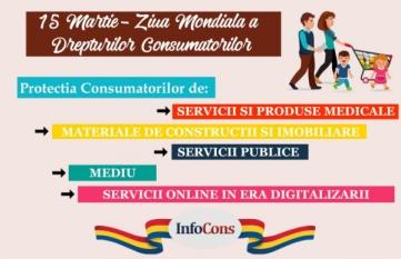 InfoCons lanseaza numarul unic de urgenta pentru consumatori – 0219615* cat si noua platforma de educare www.infocons.ro 15 Martie – Ziua Mondiala a Drepturilor Consumatorilor