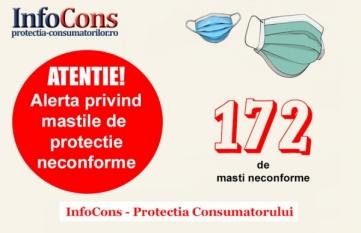 Alerta InfoCons! 172 tipuri de masti neconfome la 1 an de la declansarea Pandemiei in Romania!  Sanatatea populatiei este in siguranta?!