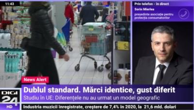 Președintele InfoCons, Sorin Mierlea în direct la Digi24 TV