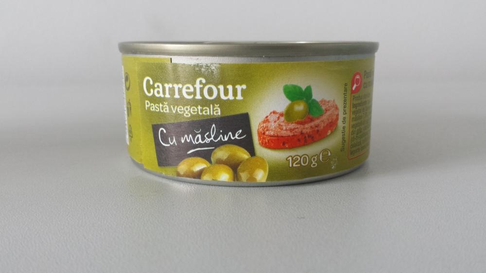 Carrefour pasta vegetala cu masline 120g