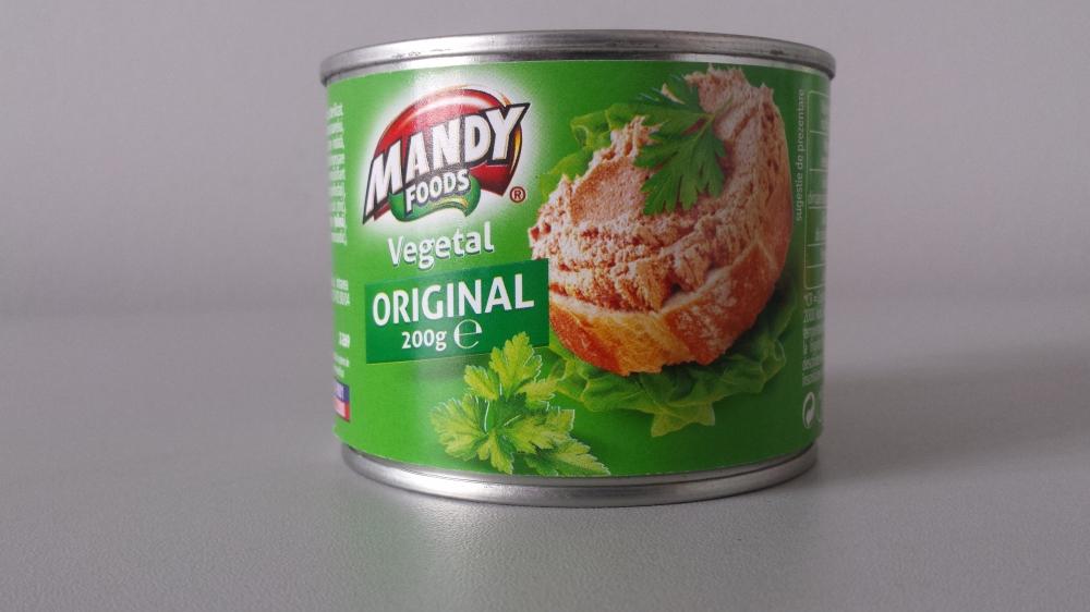 Mandy pate vegetal original 200g