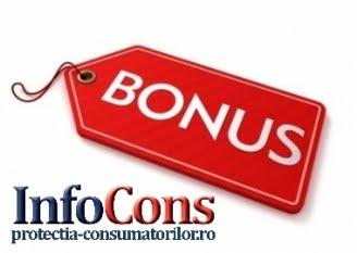 Știați că… Folosirea termenului `bonus` poate fi o practică comercială interzisă?
