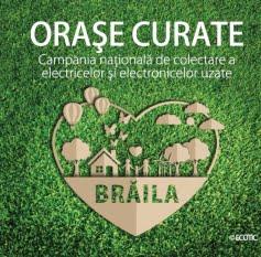 Campania ECOTIC `Orașe Curate` își continuă traseul la Brăila