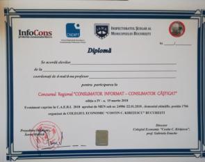 Ziua Mondială a Drepturilor Consumatorilor - InfoCons partener la ediția a patra a concursului `Consumator Informat - Consumator Câștigat`