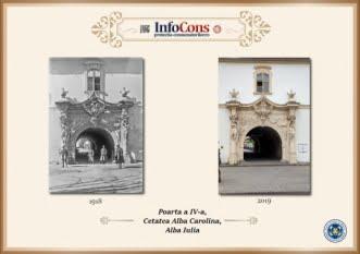 Ieri și Azi - Poarta IV Cetatea Alba Carolina
