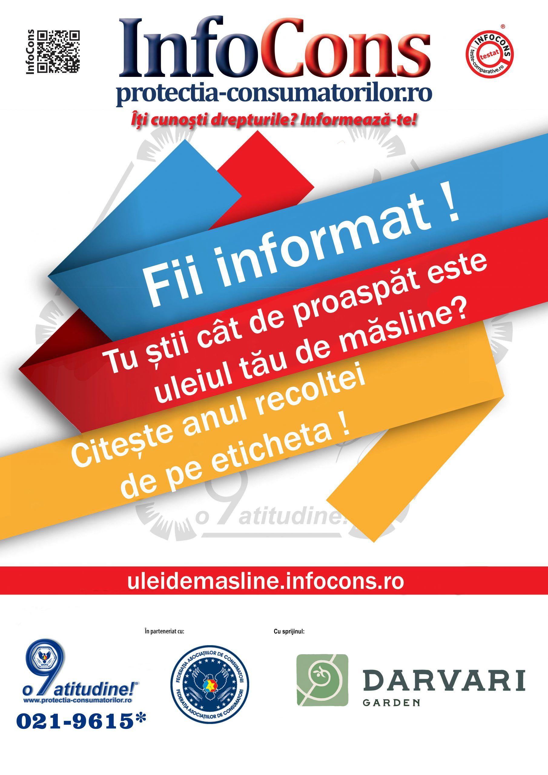 InfoCons - protectia consumatorilor protectia consumatorului - uleiul de masline