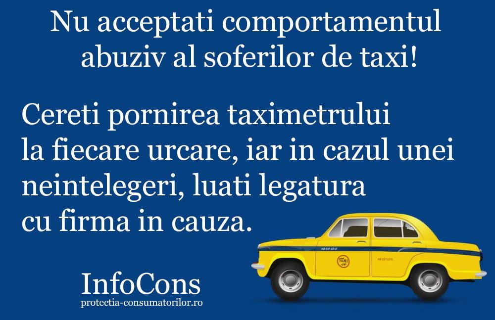 infocons - protectia consumatorilor - protectia cosnuamtorului - taxi