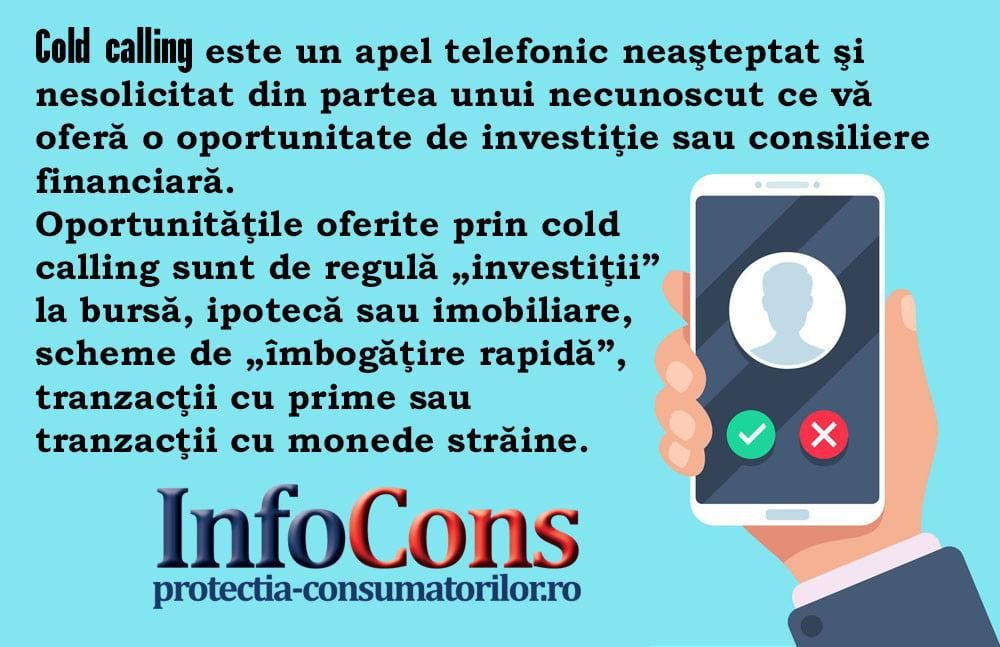 InfoCons - protectia consumatorilor - protectia consumatorului - cold calling