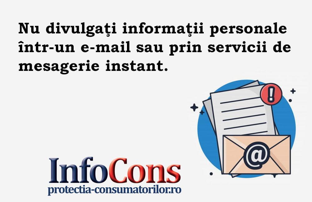 InfoCons - protectia consumatorilor - protectia consumatorului - informatii personale pe mail